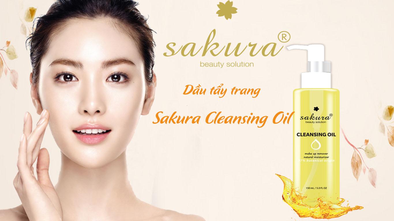 Dầu Tẩy Trang Sakura Cleansing Oil