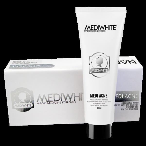 Kem trị mụn trắng da Medi White Acne